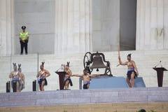 Maori Dancers führen am 50. Jahrestag durch Stockfotografie