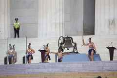 Maori Dancers perform at the 50th Anniversary Stock Photography