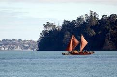 Maori double-hull canoe Stock Photos