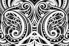 Maori ethnic ornament. Maori style ethnic ornament. Good for decorative background Stock Photo