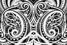 Maori- ethnische Verzierung lizenzfreie abbildung