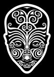 Maori face tattoo Stock Image