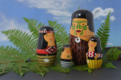 Maori family Stock Photos
