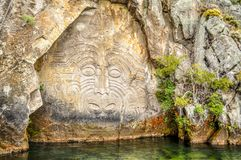 Maori- Felsen-Schnitzen Stockbild