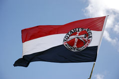 Maori Flag, Waitangi, New Zealand Stock Photo