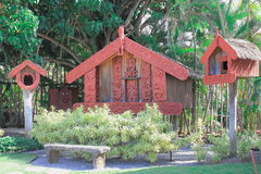 Maori Food Stores som är bekant som Pataka Arkivbild