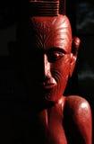 Maori Gravure op een Marae stock foto's