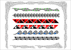 Maori Grenzen Koru Stock Foto's