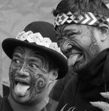 Maori haka ceremony. Allblacks bodypaint tatoo Royalty Free Stock Photos