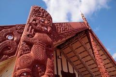 Maori house in Rotorua Royalty Free Stock Photo