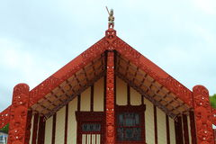 Maori house in Rotorua Stock Images