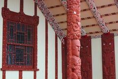 Maori house in Rotorua Stock Photos