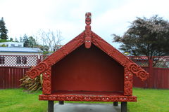 Maori house in Rotorua Royalty Free Stock Image