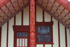 Maori house in Rotorua Stock Photography