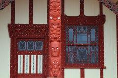 Maori house in Rotorua Royalty Free Stock Photography