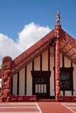 Maori huis in Rotorua Stock Afbeelding