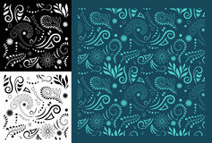 Maori Koru Seamless Pattern Royalty Free Stock Photography