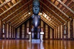 Maori mötehus - Marae royaltyfri bild