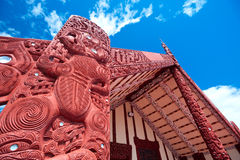Maori marae (meeting house and meeting ground) Stock Photography