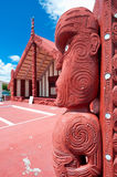 Maori marae (meeting house and meeting ground) Stock Photos