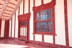 Maori marae (meeting house and meeting ground) Stock Image