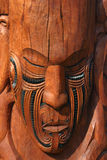 Maori Mask. The Maori are the indigenous Polynesian people of Aotearoa (New Zealand). The group probably arrived in south-western Polynesia in several waves at royalty free stock image