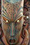 Maori Mask - Rotorua - Nya Zeeland royaltyfri bild