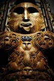 maori maskering Arkivfoto