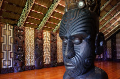 Maori meeting house - Marae stock photography