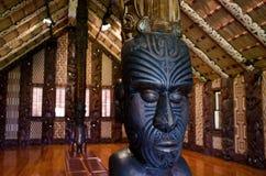 Maori mötehus - Marae Royaltyfri Fotografi