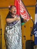 Maori Performer femenino Fotos de archivo libres de regalías