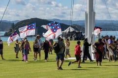 Maori Protest On Waitangi Day royaltyfri foto