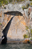 Maori Rock Carving Royalty Free Stock Photography