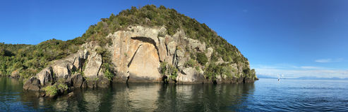 Maori Rock Carving au lac Taupo Nouvelle-Zélande Images stock