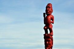 Maori Sculpture Stockfotografie