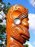 Maori Sculpture Art Royalty Free Stock Photo