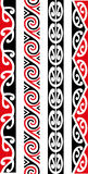 Maori Seamless Pattern Designs Image stock