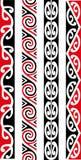 Maori Seamless Pattern Designs. Kowhaiwhai Maori seamless tattoo pattern designs vector illustration