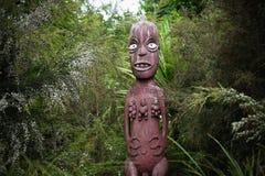 Maori som snider från Nya Zeeland Arkivfoton