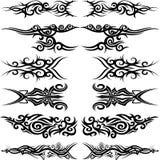 Maori stam- tatuering Arkivfoto