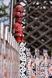 Maori standbeeld Stock Fotografie