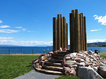 Maori Statue And Taupo Royalty Free Stock Images