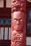 Maori statue in Rotorua Royalty Free Stock Photography