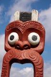 Maori statue in Rotorua Stock Image