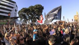 Maori strijders paraderen RWC 2011 Stock Afbeelding