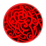 Maori style circle tattoo Stock Photo
