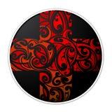 Maori style cross shape Stock Photo