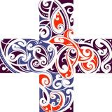 Maori style cross shape Stock Photos