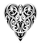 Maori style heart shape Stock Images