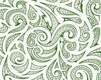 Maori style ornament as background layer. Maori style ethnic ornament. Good for tribal backdrop theme stock illustration